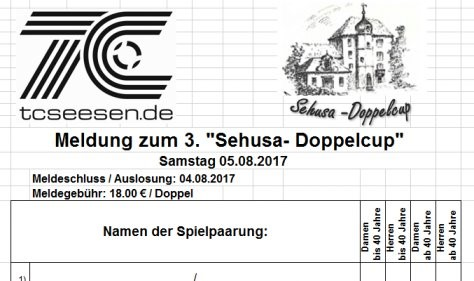 3. Sehusa Doppelcup am 05.08.2017