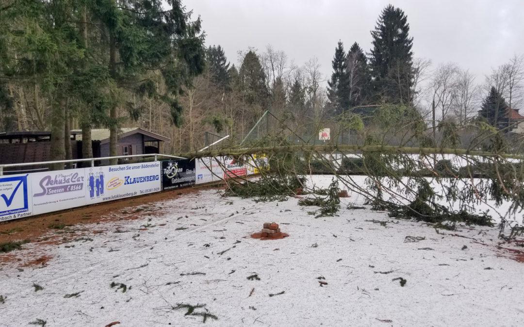 Sturmtief Friederike trifft auf TC Seesen….