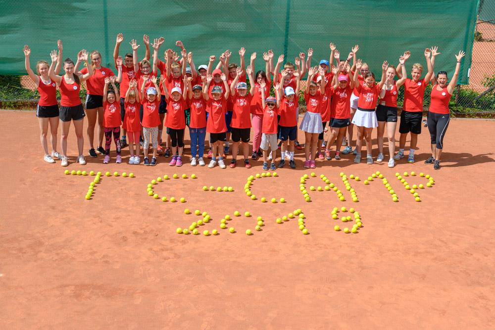 Sport-und Tenniscamp 2019 des TC Seesen mit 30 Kindern und Jugendlichen
