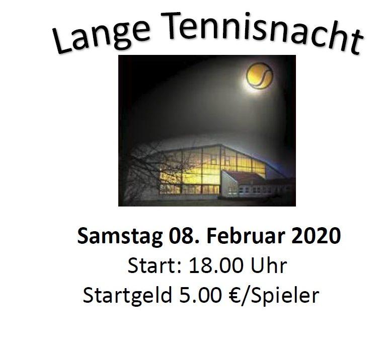 Lange Tennisnacht 2020