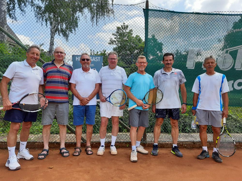 Hans-Werner Oschee, Martin Reimann, Uwe Neumann, Henning Peters, Gerd Kolodziej, Mariusz Zabksa und Norbert Schweda